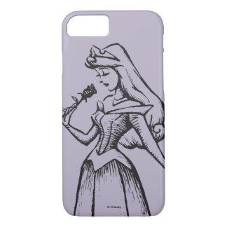 Sleeping Beauty | Aurora - Vintage Rose iPhone 8/7 Case
