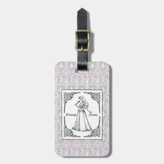 Sleeping Beauty   Aurora - Vintage Rose Luggage Tag