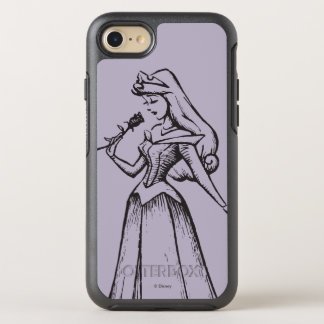 Sleeping Beauty   Aurora - Vintage Rose OtterBox Symmetry iPhone 8/7 Case