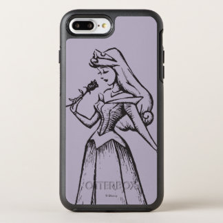 Sleeping Beauty | Aurora - Vintage Rose OtterBox Symmetry iPhone 8 Plus/7 Plus Case