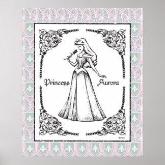 Sleeping Beauty | Aurora - Vintage Rose Poster