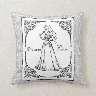 Sleeping Beauty | Aurora - Vintage Rose Throw Pillow