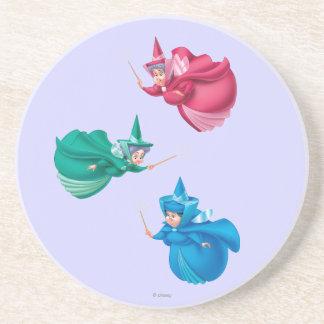 Sleeping Beauty Fairies Beverage Coasters
