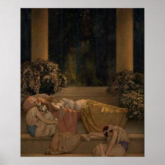 Sleeping Beauty in Wood Poster