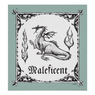 Sleeping Beauty | Maleficent Dragon - Gothic Poster