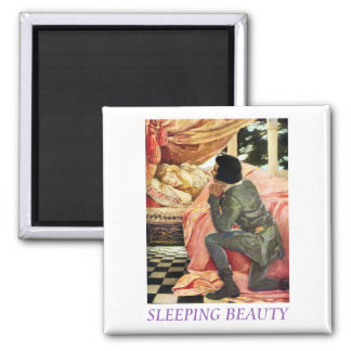 Sleeping Beauty Square Magnet