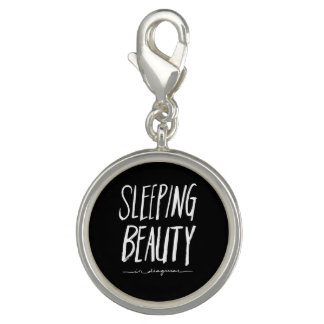 Sleeping Beauty | White Brush Script Style Photo Charms
