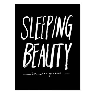 Sleeping Beauty | White Brush Script Style Post Card