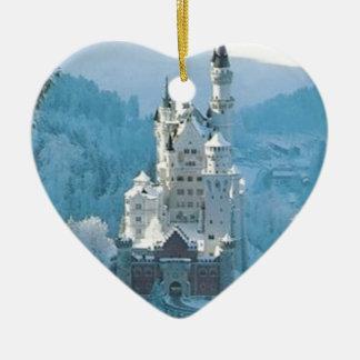 Sleeping Beauty's Castle Ceramic Heart Ornament