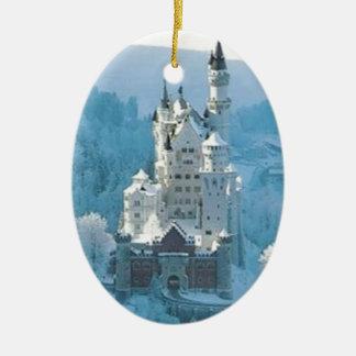 Sleeping Beauty's Castle Ceramic Oval Ornament