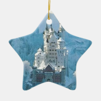 Sleeping Beauty's Castle Ceramic Star Ornament