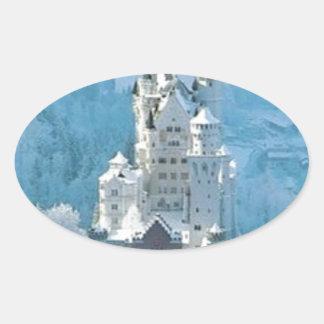 Sleeping Beauty's Castle Oval Sticker