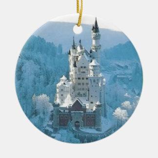 Sleeping Beauty's Castle Round Ceramic Ornament