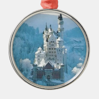Sleeping Beauty's Castle Silver-Colored Round Ornament