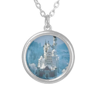 Sleeping Beauty's Castle Silver Plated Necklace