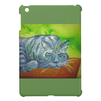 sleeping blue cat i-pad mini case iPad mini case