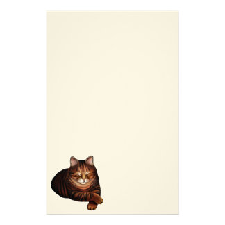 Sleeping Brown Tabby Cat Stationery