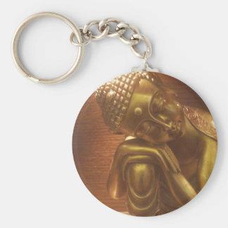 Sleeping Buddha Basic Round Button Keychain