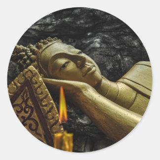 Sleeping Buddha Classic Round Sticker