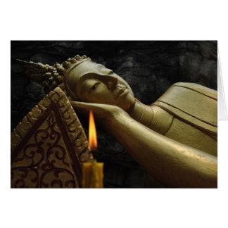Sleeping Buddha, Luang Prabang, Laos. Card