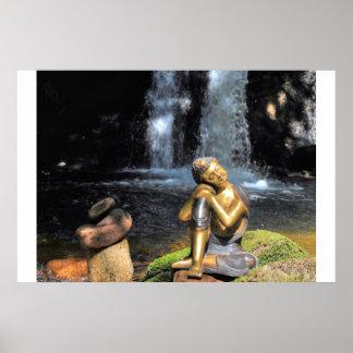 sleeping Buddha on more water Poster