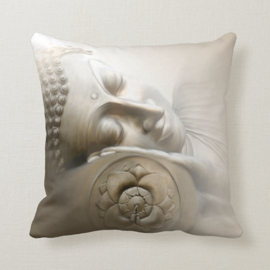 Sleeping Buddha Throw Pillow
