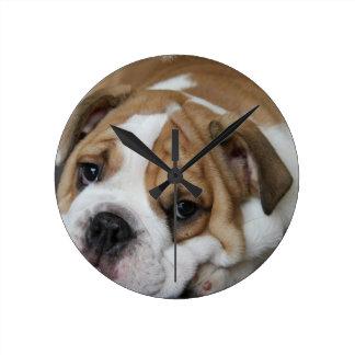 Sleeping Bulldog Clock