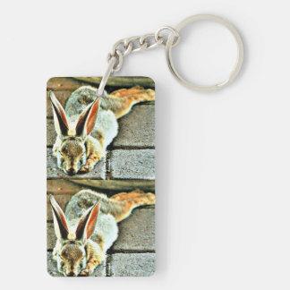 Sleeping Bunny Custom Key Chain