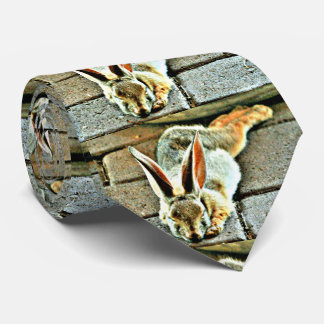 Sleeping Bunny Custom Men's Tie