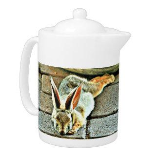 Sleeping Bunny Custom Tea Pot