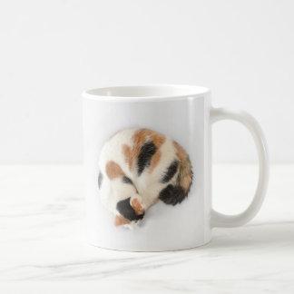 Sleeping Calico Cat Mug