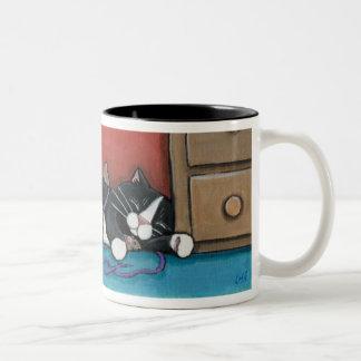 Sleeping Cat and Mice Mug