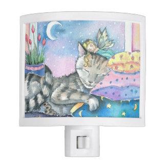 Sleeping Cat and Sweet Fairy Night Light