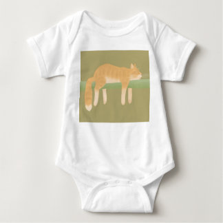 Sleeping Cat Baby Bodysuit T-Shirt