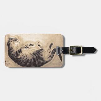 Sleeping Cat Bag Tag