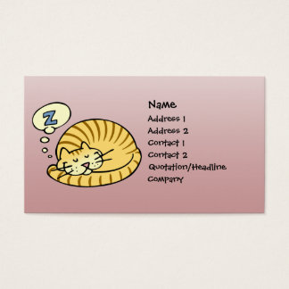 Sleeping Cat Business Card