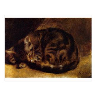 Sleeping Cat by Pierre-Auguste Renoir Postcard