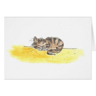 Sleeping Cat Card