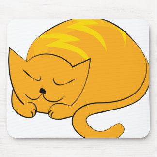 Sleeping Cat Cartoon Mouse Pad