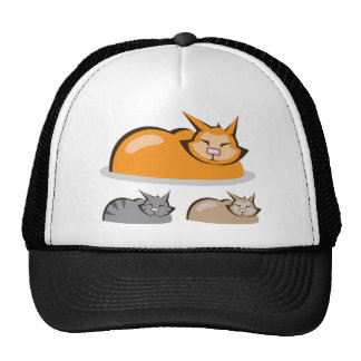 Sleeping Cat colors Trucker Hat