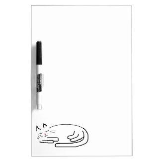 Sleeping Cat Doodle Dry Erase Whiteboards
