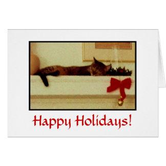 Sleeping Cat Holiday Card! Card