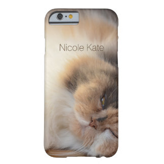 Sleeping Cat Monogram Barely There iPhone 6 Case