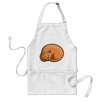 Sleeping Cat Standard Apron