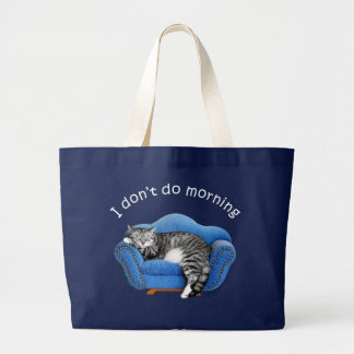 Sleeping Cat T-shirts and Gifts Large Tote Bag