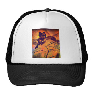 Sleeping cat trucker hat