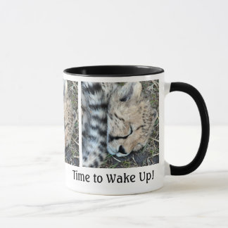 Sleeping Cheetah Cub Photo Mug