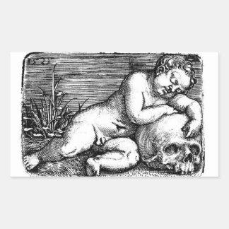 Sleeping Cherub and Skull Sticker