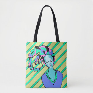 Sleeping Clown Dawing Tote Bag
