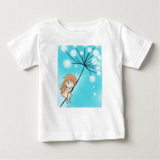 Sleeping Dandelion Girl Baby T-Shirt